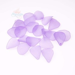 #0857 Acrylic Leaf Bead 2.5cm - Light Purple (20gram/pack)