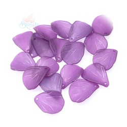 #0857 Acrylic Leaf Bead 2.5cm - Voilet (20gram/pack)