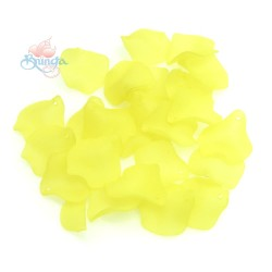 #1981 Acrylic Rose Leaf Bead 2.5cm - Yellow (20gram/pack)