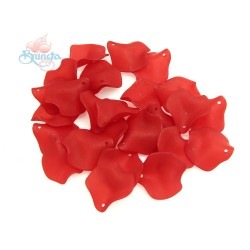 #1981 Acrylic Rose Leaf Bead 2.5cm - Red (20gram/pack)