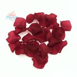#1981 Acrylic Rose Leaf Bead 2.5cm - Maroon (20gram/pack)