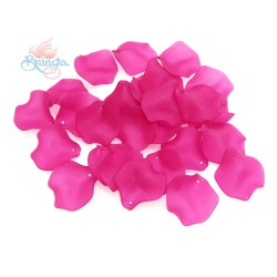 #1981 Acrylic Rose Leaf Bead 2.5cm - Light Magenta (20gram/pack)