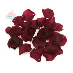 #1981 Acrylic Rose Leaf Bead 2.5cm - Red Maroon (20gram/pack)