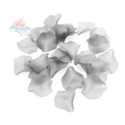 #1981 Acrylic Rose Leaf Bead 2.5cm - Light Grey (20gram/pack)