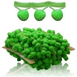 Pom Pom Ball Trimming Grass Green - 1 Meter
