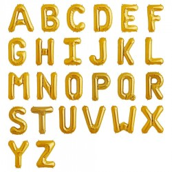 "14"" Gold Letters Balloons - 1 Pcs"
