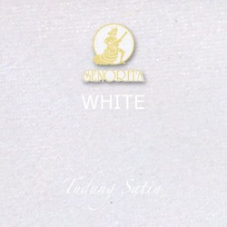 "Senorita Scarf Tudung Bawal Satin Plain 45"" White - #WHT"