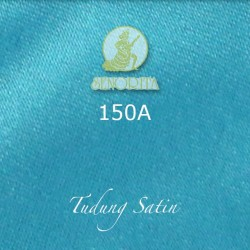 "Senorita Scarf Tudung Bawal Satin Plain 45"" Blue Sea - #150A"