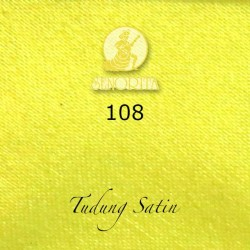 "Senorita Scarf Tudung Bawal Satin Plain 45"" Bright Yellow - #108"