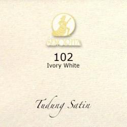 """Senorita Scarf Tudung Bawal Satin Plain 45"""" Ivory White - #102"""