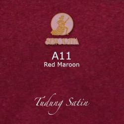 """Senorita Scarf Tudung Bawal Satin Plain 45"""" Red Maroon - #A11"""