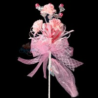 #2076 Wedding Flower Bunga Telur Light Pink - 20pcs/box