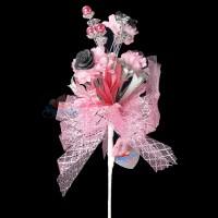 #2076 Wedding Flower Bunga Telur Light Pink and Grey - 20pcs/box