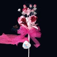 #2076 Wedding Flower Bunga Telur Hot Pink - 20pcs/box