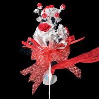 #2076 Wedding Flower Bunga Telur Red - 20pcs/box