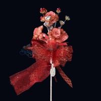 #2076 Wedding Flower Bunga Telur Maroon - 20pcs/box