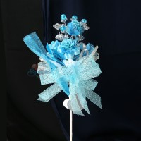 #2076 Wedding Flower Bunga Telur Sky Blue - 20pcs/box
