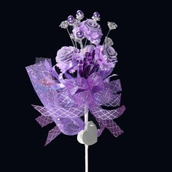 #2076 Wedding Flower Bunga Telur Purple - 20pcs/box