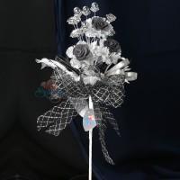 #2076 Wedding Flower Bunga Telur Grey - 20pcs/box