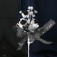#2076 Wedding Flower Bunga Telur Black - 20pcs/box