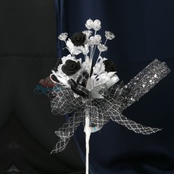 #2076 Wedding Flower Bunga Telur Black - 20pcs/box