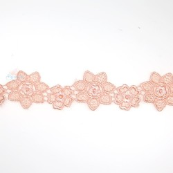 1034 Small Chemical Prada Lace Light Peach - 1 Meter