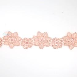 1034 Small Chemical Prada Lace Light Peach - 1 Meter