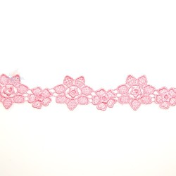 1034 Small Chemical Prada Lace Light Pink - 1 Meter