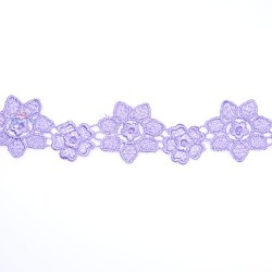 1034 Small Chemical Prada Lace Light Purple - 1 Meter