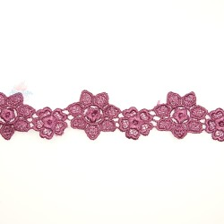 1034 Small Chemical Prada Lace Magenta - 1 Meter