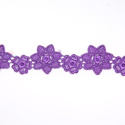1034 Small Chemical Prada Lace Purple - 1 Meter