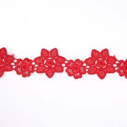 1034 Small Chemical Prada Lace Red - 1 Meter