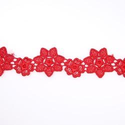 1034 Small Chemical Prada Lace Red - 1 Meter