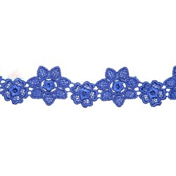 1034 Small Chemical Prada Lace Royal Blue - 1 Meter