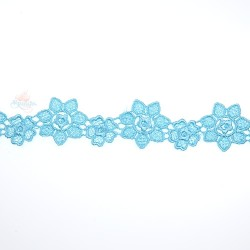 1034 Small Chemical Prada Lace Sky Blue - 1 Meter