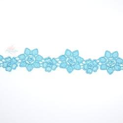 1034 Small Chemical Prada Lace Sky Blue - 1 Meter