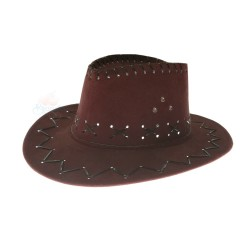 Women Mexico Cowboy Hat Dark Coffee