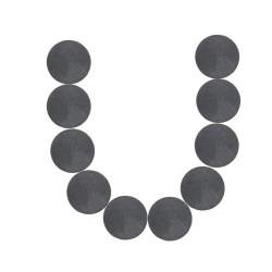 Magnet Black Round 1.5CM - 10pcs