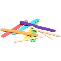 Wood Craft Stick 6 Colour - 50pcs