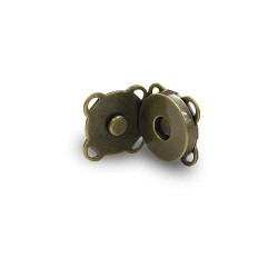Magnetic Snap Button Bronze 2CM - 2pcs