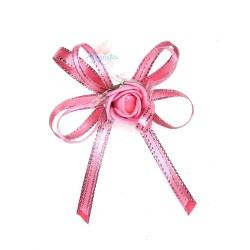 (RF27) Decoration Flower Brooch Light Pink - 1 Pcs