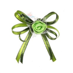 (RF27) Decoration Flower Brooch Olive Green - 1 Pcs