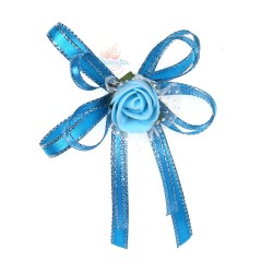 (RF27) Decoration Flower Brooch Pool Blue - 1 Pcs