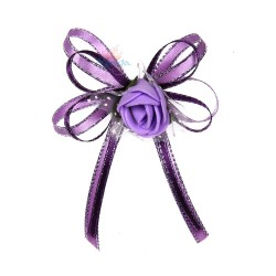 (RF27) Decoration Flower Brooch Purple - 1 Pcs