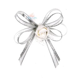 (RF27) Decoration Flower Brooch White - 1 Pcs