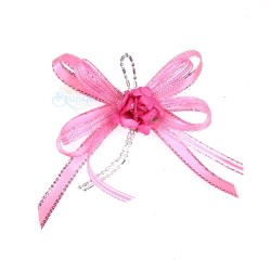 (RF19) Decoration Flower Brooch Light Pink - 1 Pcs