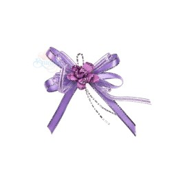(RF19) Decoration Flower Brooch Purple - 1 Pcs