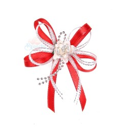(RF19) Decoration Flower Brooch Red - 1 Pcs