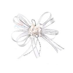 (RF19) Decoration Flower Brooch White - 1 Pcs