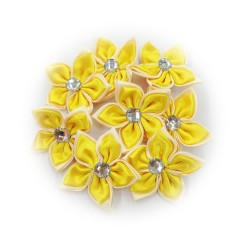 Satin Flower Stone Yellow #504 - 6pcs